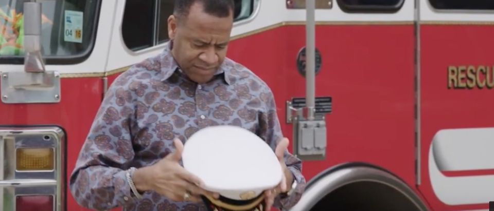 Former Atlanta fire chief Kelvin Cochran shares his story./Screenshot/YouTube