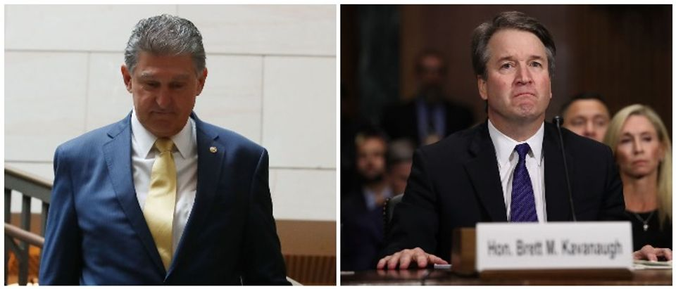 Joe Manchin and Brett Kavanaugh (LEFT: Mark Wilson/Getty Images RIGHT: Win McNamee/Getty Images)