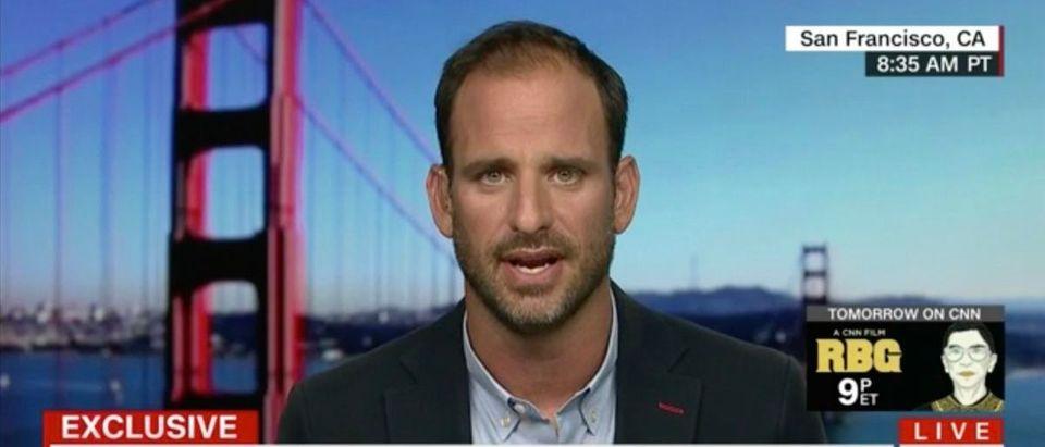 Pictured is Sleeping Giants founder Matt Rivitz. Screenshot/CNN