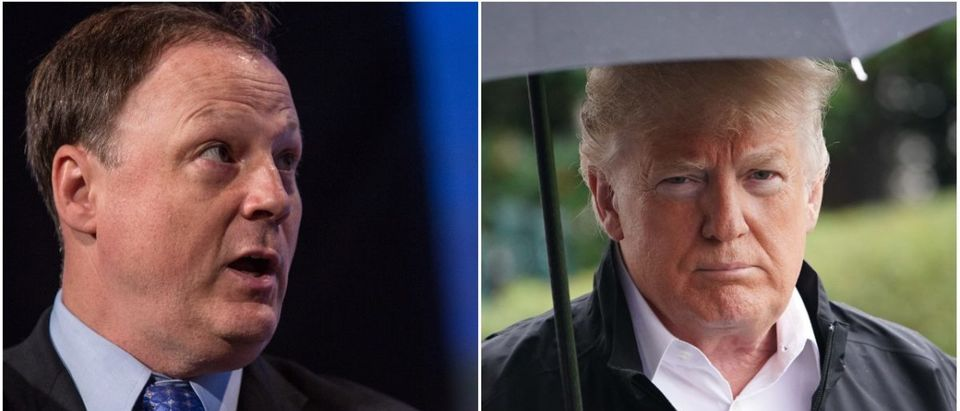 Left: John Harris of Politico, Right: President Donald Trump (Getty Images)
