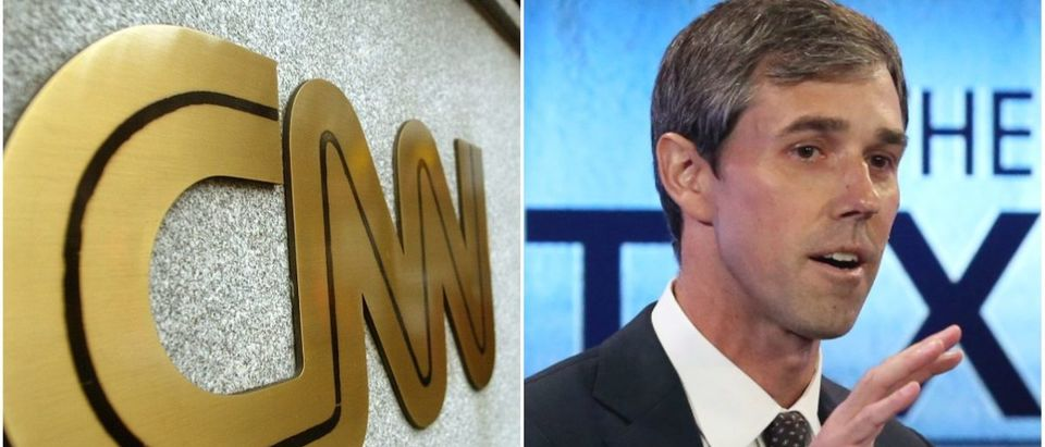 Left: CNN (Getty Images), Right: Beto O'Rourke (Getty Images)