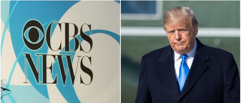 Left: CBS News (Getty Images), Right: President Donald Trump (Getty Images)