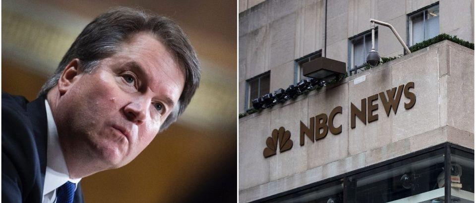 Left: SCOTUS nominee Brett Kavanaugh, Right: NBC News (Getty Images)