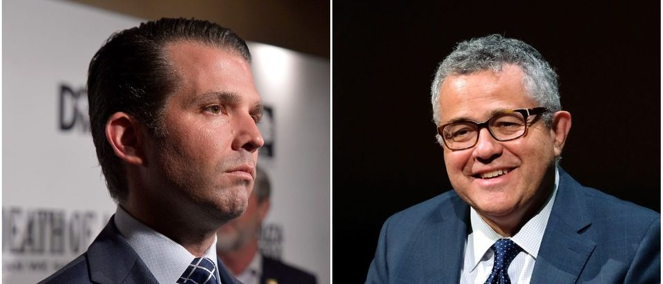 Left: Donald Trump Jr. Right: Jeffrey Toobin (Getty Images)