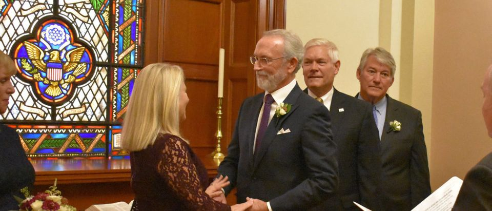Washington Republican Rep. Dan Newhouse married Joan Galvin at the U.S. Capitol Friday. Photo courtesy of Newhouse's office