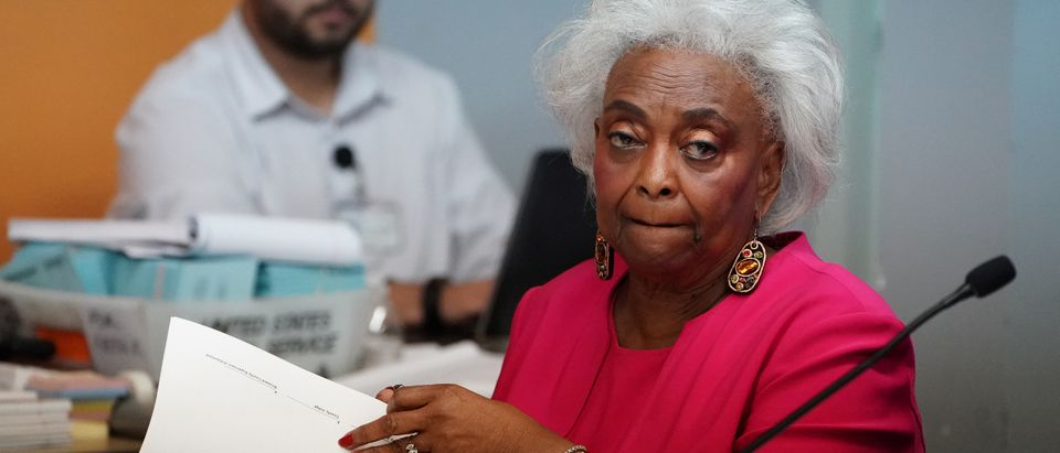 Broward County Supervisor of Elections Brenda Snipes listens during a ballot recount in Lauderhill