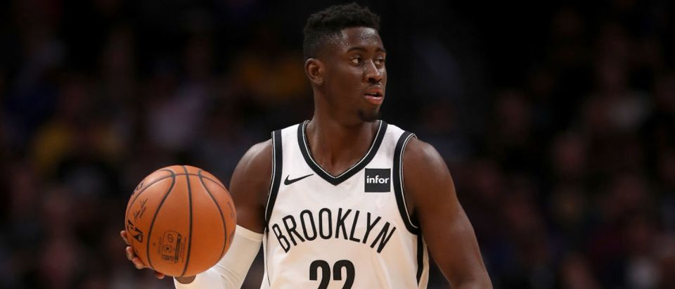 DENVER, CO - NOVEMBER 09: Caris Levert #22 of the Brooklyn Nets plays the Denver Nuggets at the Pepsi Center on November 9, 2018 in Denver, Colorado. (Photo by Matthew Stockman/Getty Images)