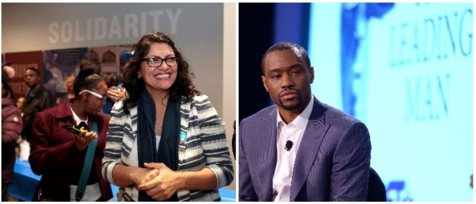 Congresswoman-elect Rashida Tlaib and Marc Lamont Hill (LEFT: REUTERS/Rebecca Cook RIGHT: