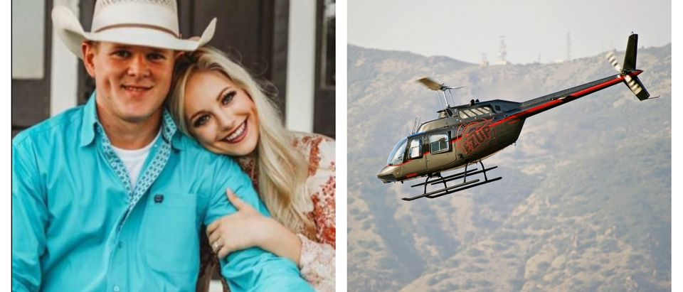 A couple died in a helicopter crash shortly after getting married.