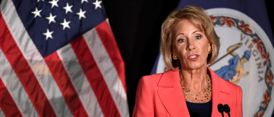 Education Sec DeVos delivers major policy address on Title IX enforcement