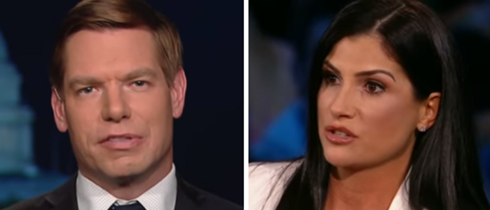 Eric Swalwell MSNBC screengrab Dana Loesch CNN screengrab