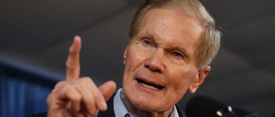 Sen. Bill Nelson speaks during a campaign rally at the International Union of Painters and Allied Trades on August 31, 2018 in Orlando, Florida. Joe Raedle/Getty Images