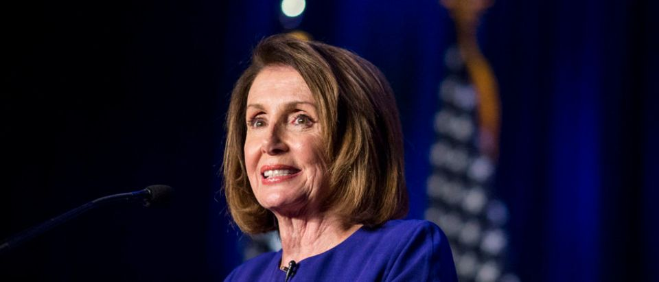 House Minority Leader Nancy Pelosi speaks during a DCCC election watch party at the Hyatt Regency on Nov. 6, 2018 in Washington, D.C. (Photo by Zach Gibson/Getty Images)