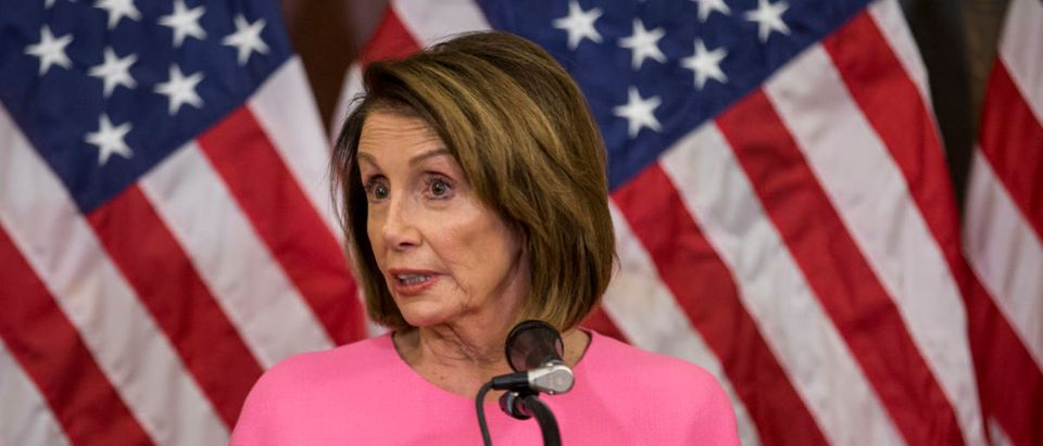 Democratic House Minority Leader Nancy Pelosi (D-CA) Holds News Conference Day After Midterm Elections