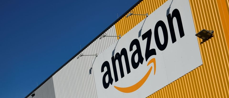 A picture taken on November 8, 2018, shows the logo of US online retail giant Amazon displayed outside the group's distribution center in Dortmund, Germany. INA FASSBENDER/AFP/Getty Images