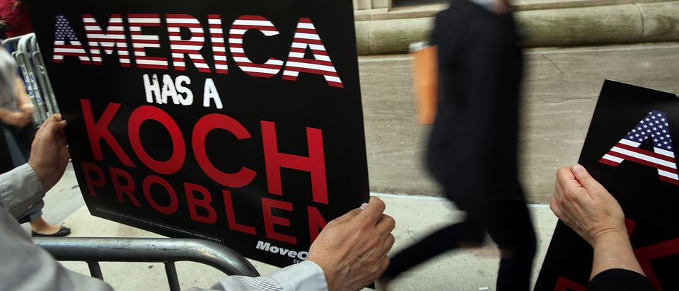 Anti-Koch Brothers Protest Held Outside Their Manhattan Apartment