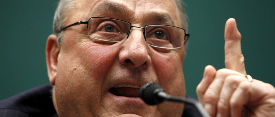 Maine Gov. Paul LePage testifies before a U.S. House Energy and Commerce Subcommittee hearing to review draft legislation on hydropower, on Capitol Hill in Washington May 13, 2015. REUTERS/Jonathan Ernst