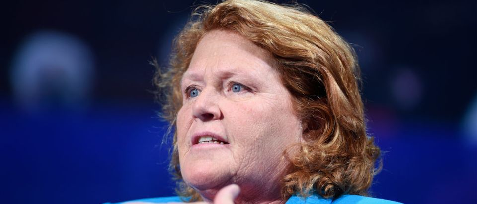 Democratic North Dakota Sen. Heidi Heitkamp speaks at the 2016 Concordia Summit - Day 1 at Grand Hyatt New York on Sept. 19, 2016 in New York City. (Photo by Riccardo Savi/Getty Images for Concordia Summit)