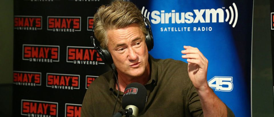 Host of MSNBC's 'Morning Joe', Joe Scarborough visits 'Sway in the Morning' with Sway Calloway on Eminem's Shade 45 at SiriusXM Studios -- Astrid Stawiarz - Getty Images