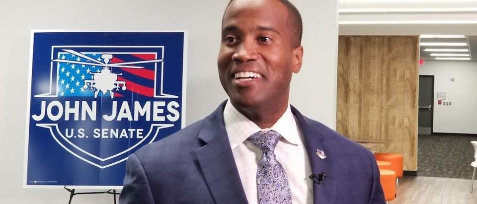 John James receives endorsement from President Donald Trump (Photo obtained by TheDCNF)