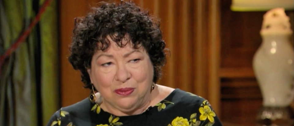 Justice Sonia Sotomayor speaks with David Axelrod in November 2018. (Screenshot/CNN)