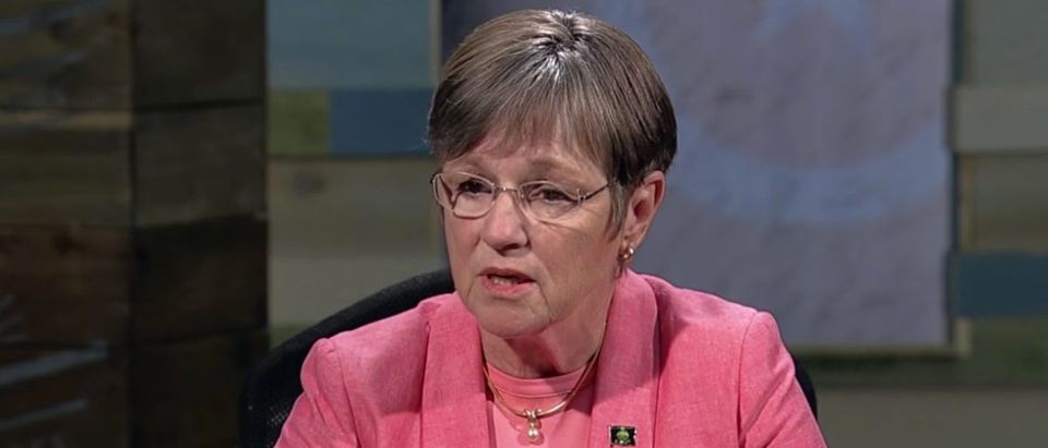 Kansas state senator Laura Kelly wins Kansas gubernatorial race. (YouTube screen capture/KCPT)