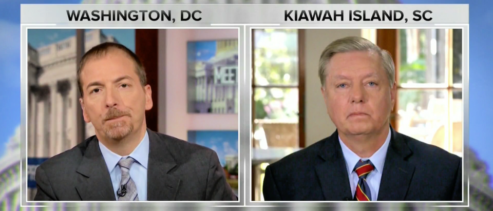 Sen. Lindsey Graham speaks to Chuck Todd of Meet the Press on Nov. 18, 2018. (Screenshot/NBC News)