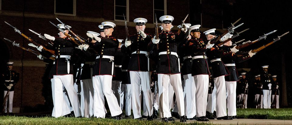 Marine Barracks Washington Evening Parade Dress Rehearsal April 26, 2017