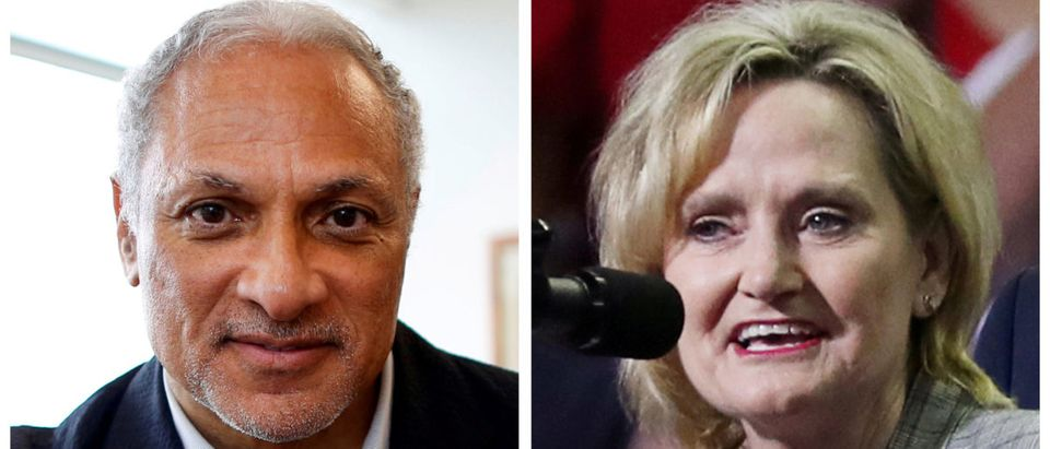 FILE PHOTOS: Combination photo of U.S. Senate candidate Mike Espy and U.S. Senator Cindy Hyde-Smith