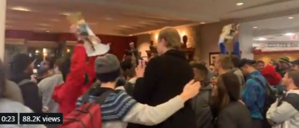 Ohio State student protesters shout at Ben Shapiro event (screengrab)