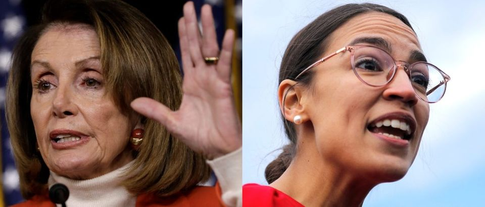 Nancy Pelosi and Alexandria Ocasio-Cortez