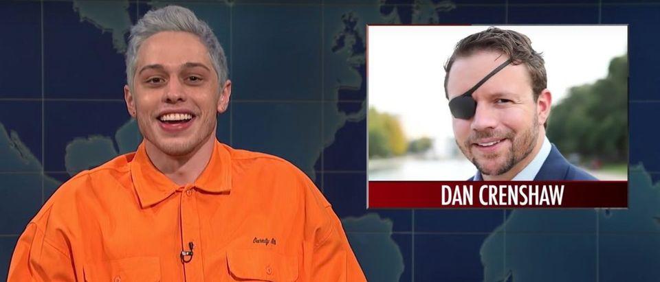 Pete Davidson, Daniel Crenshaw (Credit: Screenshot/YouTube Saturday Night Live)