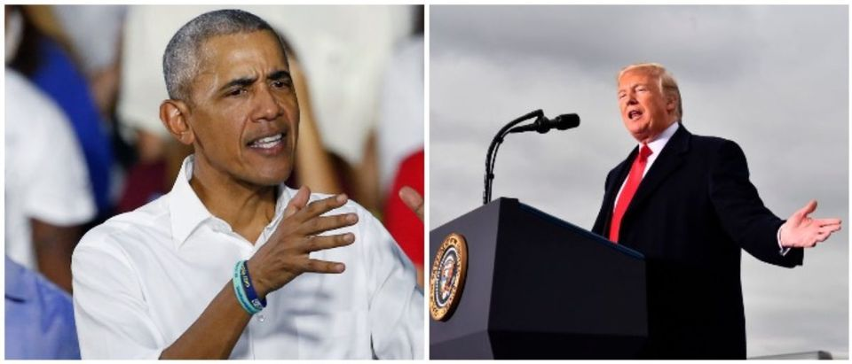 President Obama and President Trump (LEFT: RHONA WISE/AFP/Getty Images RIGHT: NICHOLAS KAMM/AFP/Getty Images)