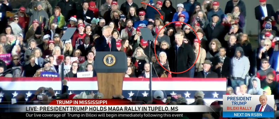 President Trump and Sen. Lindsey Graham at Mississippi Rally (Right Side Broadcast Network YouTube screenshot)