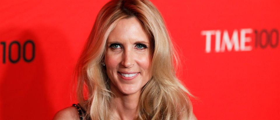 Ann Coulter arrives at the Time 100 Gala in New York