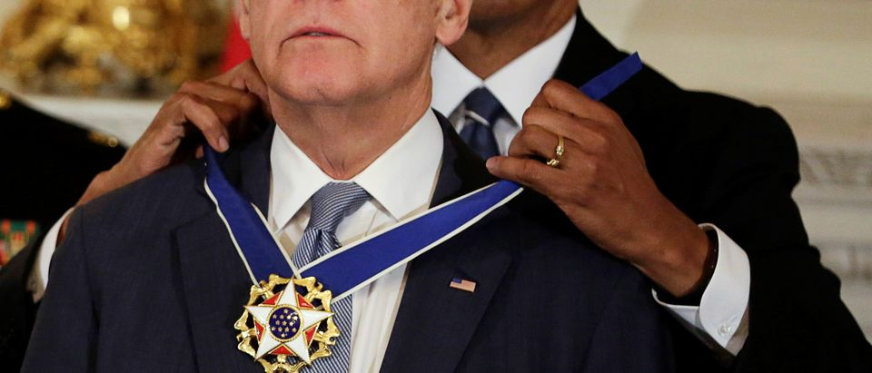 President Barack Obama presents the Presidential Medal of Freedom to Vice President Joe Biden
