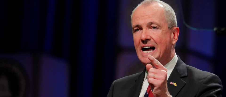 Newly sworn in New Jersey Governor, Phil Murphy, speaks after taking the oath of office in Trenton, New Jersey