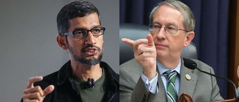 Google CEO Sundar Pichai will testify before the House Judiciary Committee chaired by Republican Virginia Sen. Bob Goodlatte on Dec. 5, 2018. Ramin Talaie/Getty Images and Mark Wilson/Getty Images