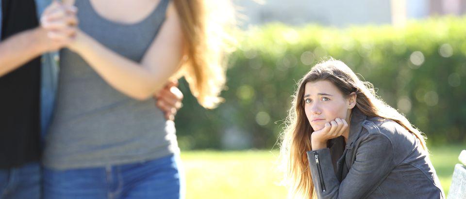 Sad Single Girl (Shutterstock/Antonia Guillem)