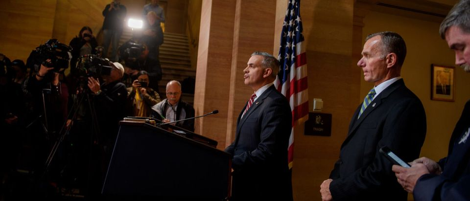 PITTSBURGH, PA - OCTOBER 29: U.S. Attorney Scott Brady and FBI Agent Bob Jones announce the arraignment of Robert Bowers, the defendant in the mass shooting at the Tree of Life Synagogue, on October 29, 2018 in Pittsburgh, Pennsylvania. Eleven people were killed and six more were wounded in the mass shooting that police say was fueled by antisemitism.(Photo by Jeff Swensen/Getty Images)