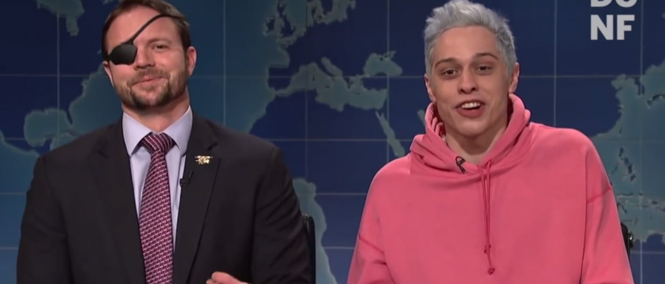 """Texas Republican Rep.-elect Dan Crenshaw went on """"Saturday Night Live"""" to make amends with cast member Pete Davidson. (YouTube/TheDCNF)"""