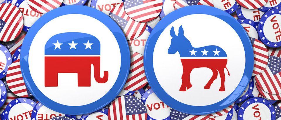 Shutterstock:Democratic Party Logo:Republican Party Logo