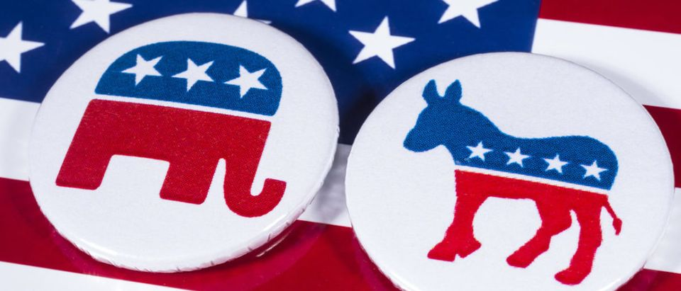 As the polls closed Tuesday night for the Nov. 6 midterm elections, Republicans lost control of the House, but picked up a few seats in the Senate. Shutterstock:Republican:Democrat:Logos