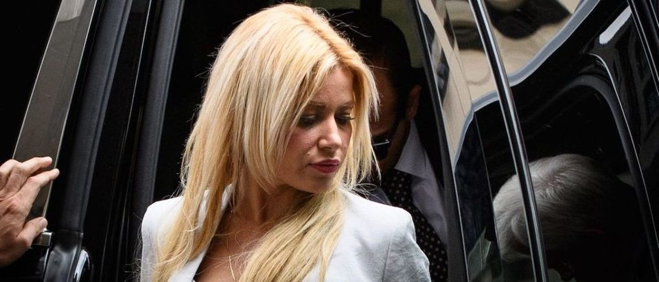 Simona Mangiante Papadopoulos, the wife of former Trump campaign advisor George Papadopoulos, arrives at US District Court for his sentencing in Washington, D.C., on September 7, 2018. (Photo: MANDEL NGAN/AFP/Getty Images)