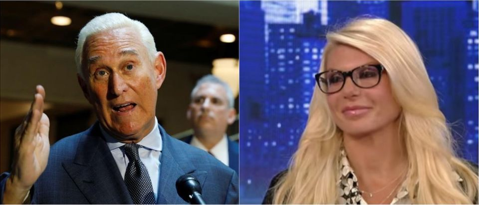 Roger Stone (left, via Reuters) and Kristin Davis (right, YouTube screen grab via Fox News)