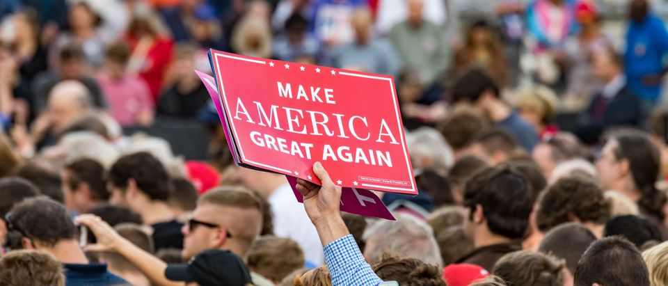 Pictured is a Trump sign. (Shutterstock/Brad McPherson)