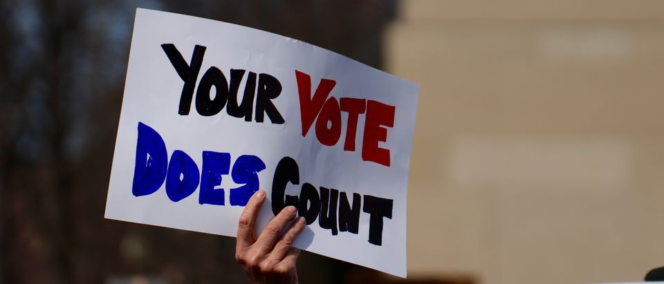 Your Vote Counts Sign
