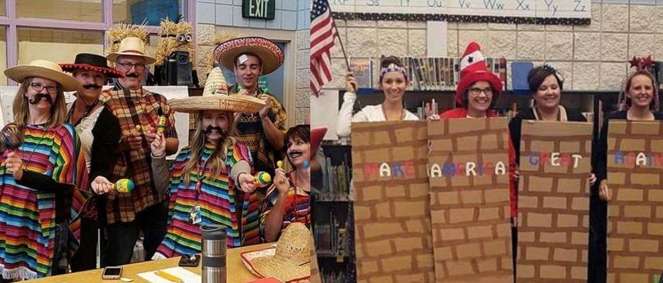 Public School Teachers Denounced For Dressing Up As Mexicans, Trump's Wall For Halloween [Screenshot/Facebook]
