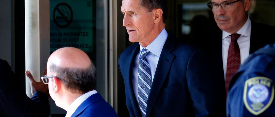 Former U.S. national security adviser Michael Flynn departs U.S. district court, where he was expected to plead guilty to lying to the FBI about his contacts with Russia's ambassador to the United States, in Washington, U.S., Dec. 1, 2017. REUTERS/Jonathan Ernst