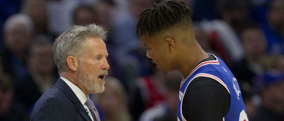 76ers Brett Brown and Markelle Fultz
